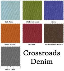 Crossroads Denim color card